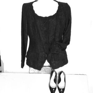 OSCAR DE LA RENTA all lace black jacket